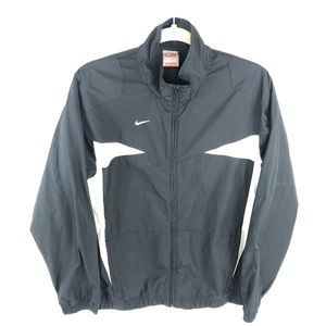 Nike Track Jacket Mens Small Zippered Black Vented